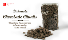 Chocolade Chunks - Callebaut - puur - bakvast - 500 gram