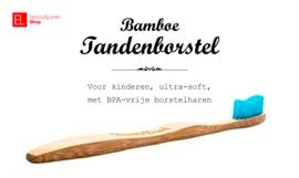 Tandenborstel - Bamboe - Voor kinderen - Blauw - ultra-soft