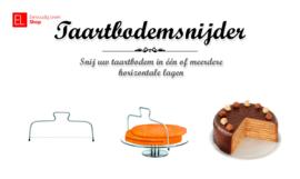 Taartbodemsnijder voor taarten met een doorsnee tot 32 centimeter