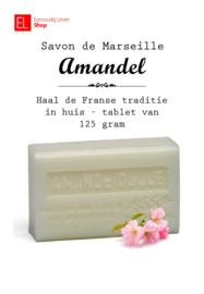 Savon de Marseille - 125 gram - Amandel