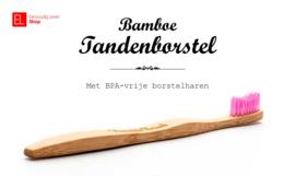 Tandenborstel - Bamboe - Rose