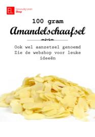 Aanzetsel - Amandelschaafsel - 100 gram