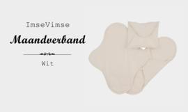 ImseVimse - Maandverband - wasbaar - 3 stuks - wit