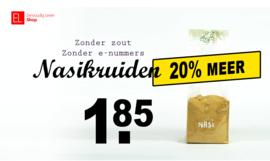 Nasikruiden zonder zout - 100 gram - mengsel uit eigen keuken - AKTIE