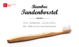 Tandenborstel - Bamboe - Voor kinderen - Wit - ultra-soft
