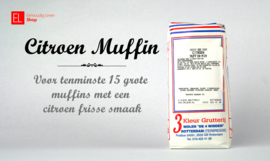 Bakmix - Muffin Citroen - 600 gram