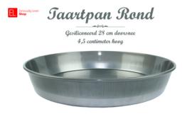 Bakvorm - Taartpan Rond gesiliconeerd 28 cm