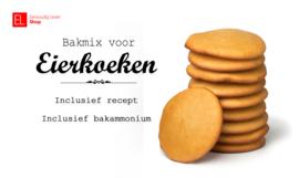 Bakmix - Eierkoeken - met recept en zakje bakammonium