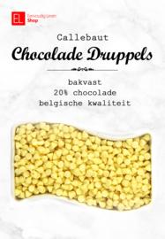 Chocolade druppels - Callebaut - wit - bakvast - 500 gram