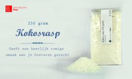 Kokosrasp, 250 gram - korte THT tot 14-12-2019