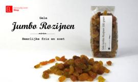 Gele jumbo rozijnen, 250 gram