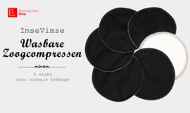 Zoogcompressen - Stay Dry - 6 stuks - zwart
