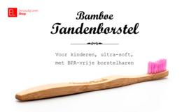 Tandenborstel - Bamboe - Voor kinderen - Rose - ultra-soft