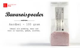 Bavaroispoeder, aardbei - 100 gram