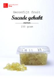 Geconfijt fruit - sucade - 150 gram - gehakt