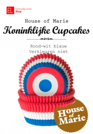 Cups - Cupcake cups - House of Marie - Vlag NL Rood Wit Blauw - 50 stuks