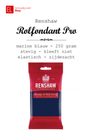 Rolfondant - Renshaw - 250 gram - Donker blauw