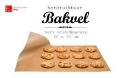 Bakvel - herbruikbaar - Brand New Cake - 40x33 cm