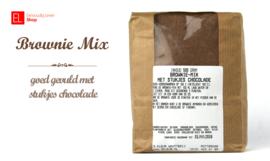 Bakmix - Brownie - 500 gram - met stukjes chocola