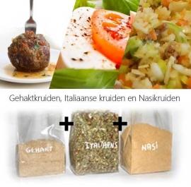 Gehaktkruiden - Italiaanse kruiden en Nasikruiden