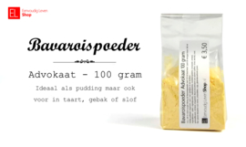 Bavaroispoeder - advokaat - 100 gram
