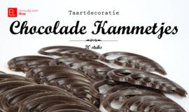 Taartdecoratie - Chocolade Kammetjes - 20 stuks