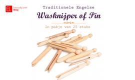 Wasknijper - Traditionele Engelse - Ook wel Pin genoemd