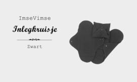 Inlegkruisjes - wasbaar - 3 stuks - zwart - TIJDELIJK LANGERE LEVERTIJD!