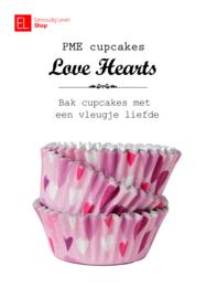 Cupcake cups - PME - Hartjes - 30 stuks