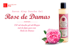 Savon Alep - Douche Gel - Rose de Damas - 250 ml