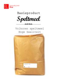 Basisproduct - Speltmeel - Volkoren - 5 kilo
