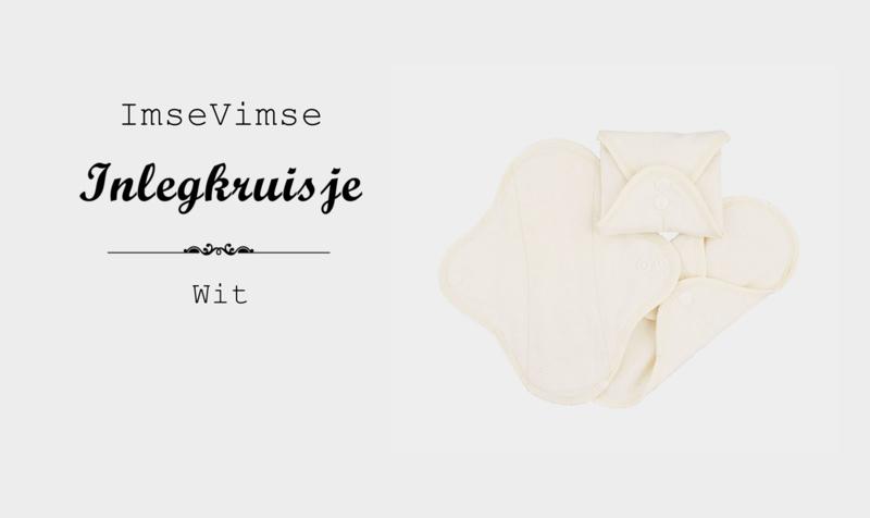 ImseVimse - Inlegkruisjes - wasbaar - 3 stuks - wit
