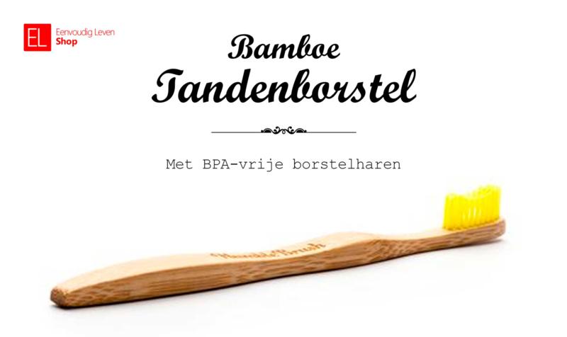 Tandenborstel - Bamboe - Geel
