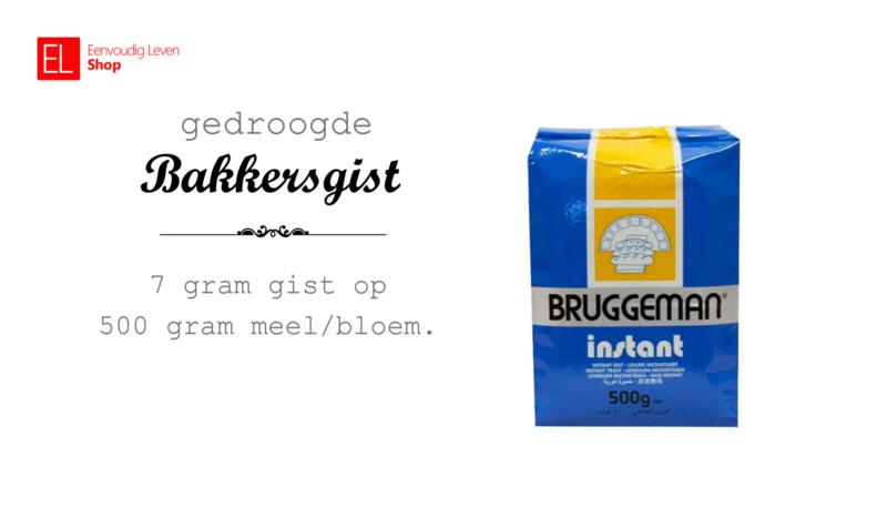 Gist - Bruggeman - Gedroogde bakkersgist - 500 gram