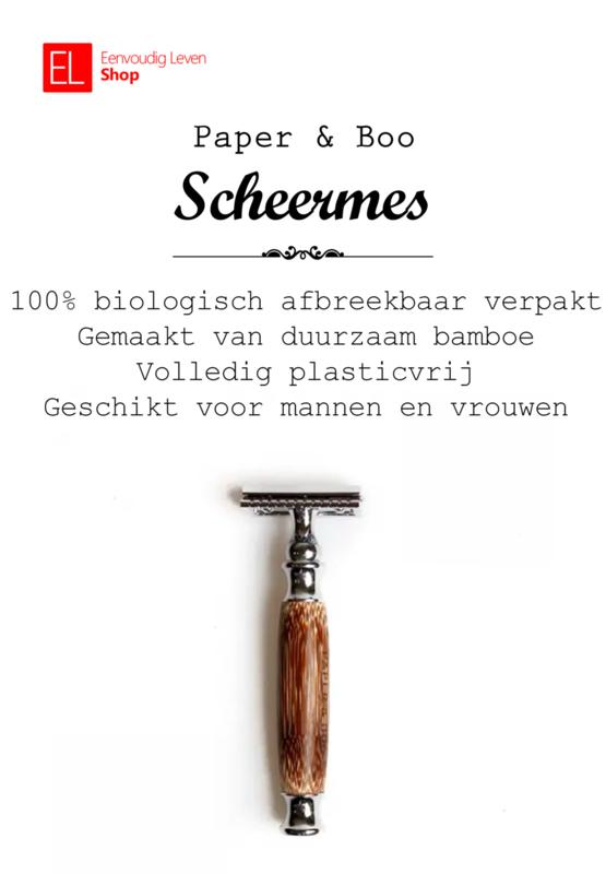 Scheren - Scheermes van bamboe