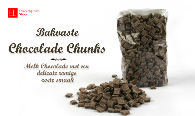 Chocolade Chunks - Callebaut - melk  - bakvast - 500 gram