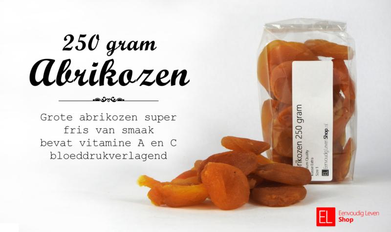 Vruchten - Abrikozen - 250 gram