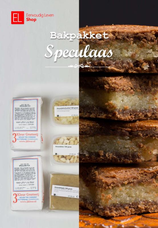 Bakpakket Speculaas - 2 x Speculaasmix - Amandelschaafsel - Amandelen - Spijs