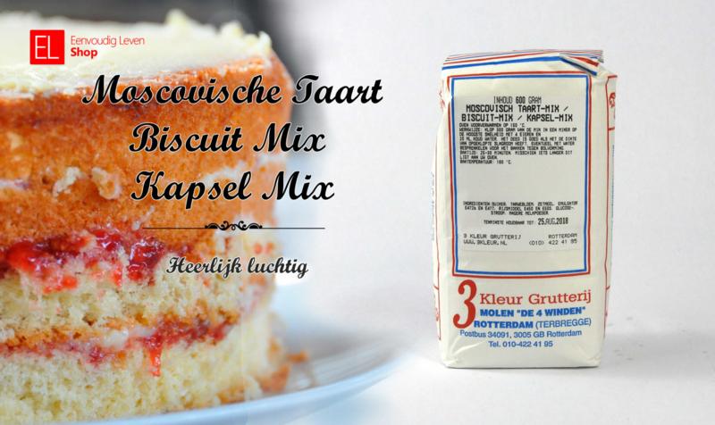 Bakmix - Moscovische taart / Biscuit Mix / Kapsel Mix - 600 gram
