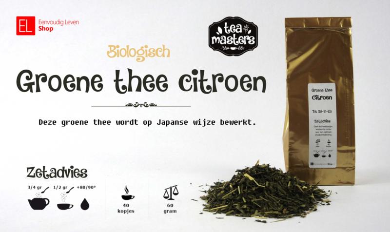 Thee - Biologisch Groene thee citroen