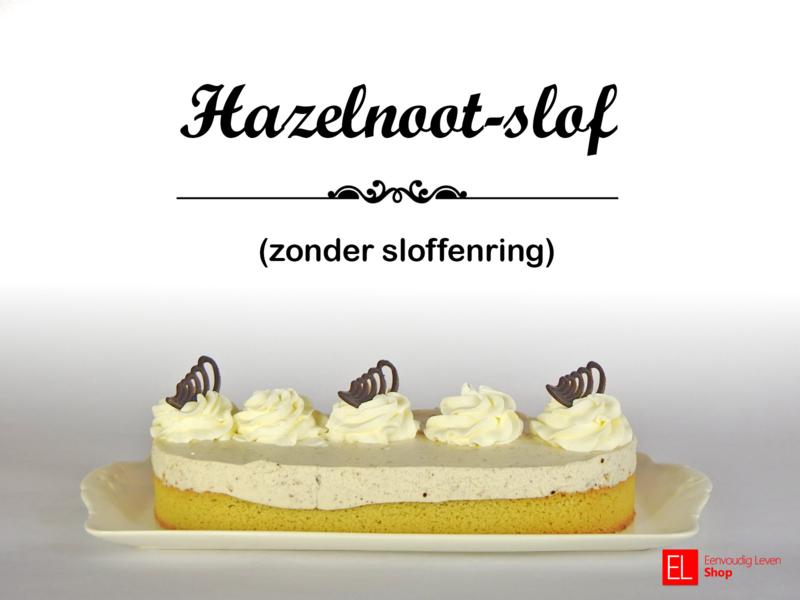 Bakpakket - Hazelnootslof - zonder sloffenring - 550 gram