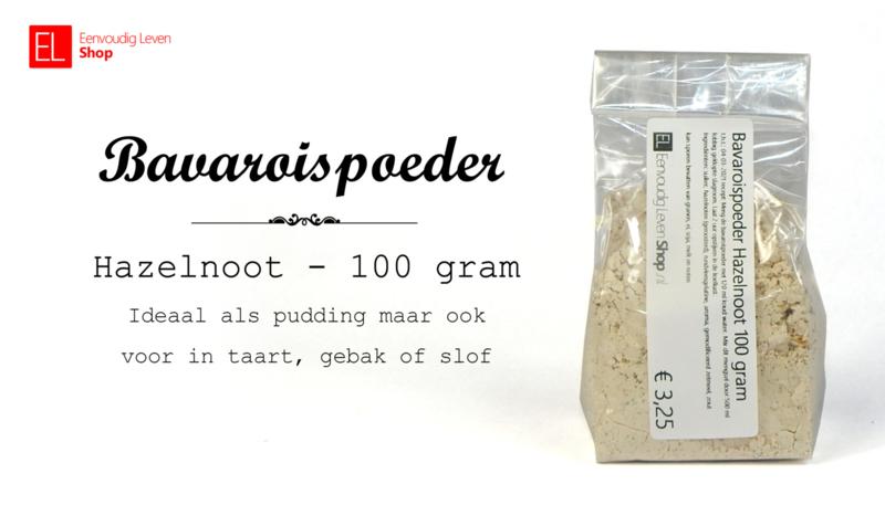Bavaroispoeder, hazelnoot, 100 gram