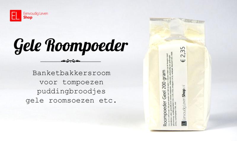Gele Roompoeder - bakvast - alleen water toevoegen - 200 gram