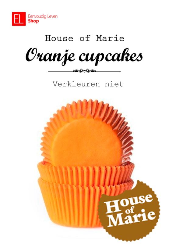 Cupcake Cups - Oranje - House of Marie - 50 stuks