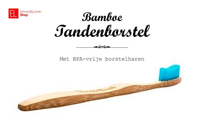 Tandenborstel - Bamboe - Blauw-