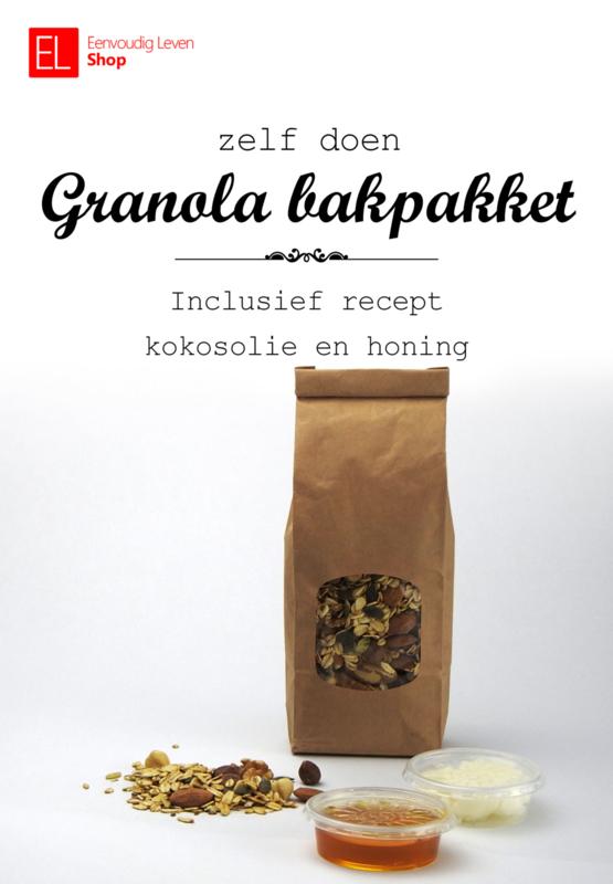 Bakpakket - Granola - Doe het zelf - Met kokosolie, honing en recept