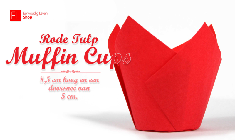 Muffin Cups Tulp Rood, 85 mm