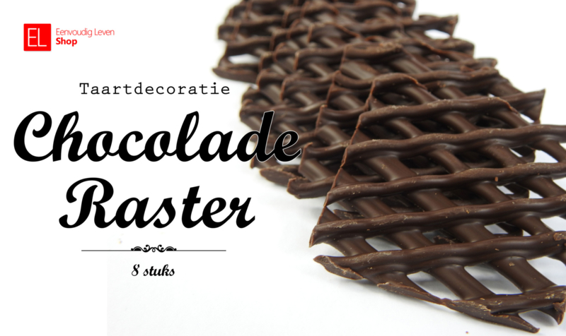 Chocolade - Taartdecoratie - Chocolade Raster - 8 stuks