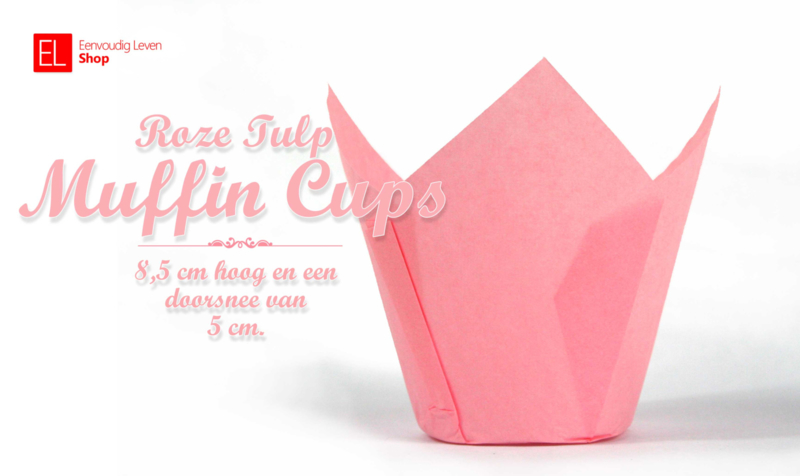 Muffin Cups Tulp Roze, 85 mm