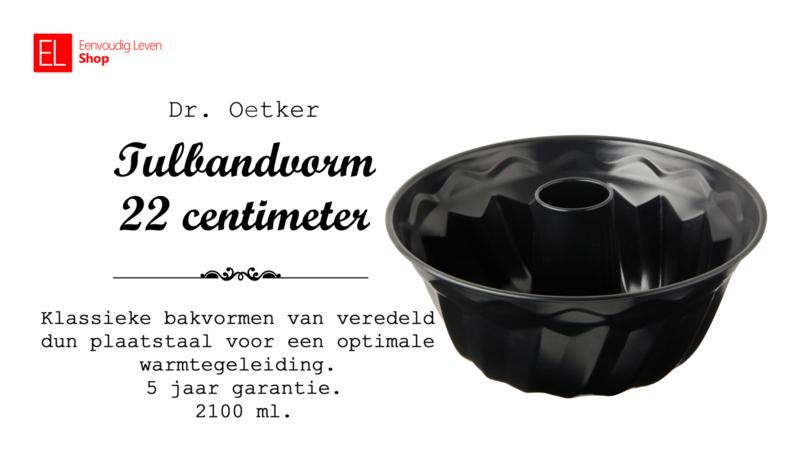 Bakvorm - Tulband - 22 centimeter - 2100 ml. - 5 jaar garantie